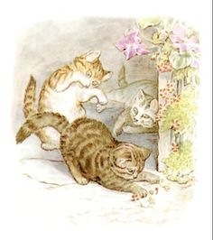 "Beatrix Potter - illustration from ""The Tale of Tom Kitten"""