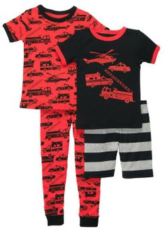 Amazon.com: Carters Toddler 4-pc. Rescue Vehicles Pajama Set: Clothing