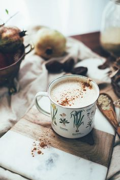 4-Ingredient Vegan Chai Latte with Tahini. Sweetened with dates and an added richness from the tahini (a sesame seed paste), this vegan chai latte combines beautiful masala chai tea, almond butter, dates and water to a delicious creamy texture.