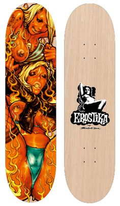 "EROSTIKA ""DEVILS CAT FIGHT PART2"" SKATE DECK 0730e9e04c9"