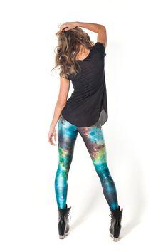 Galaxy Green Leggings from Australia http://blackmilkclothing.com