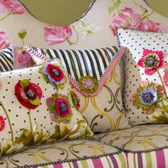 MacKenzie-Childs - Summerhouse Square Pillow