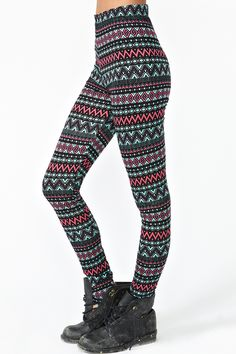 Aztec Stripe Leggings in Clothes at Nasty Gal Super cute!