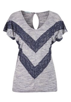 lace striped spacedye tee - maurices.com