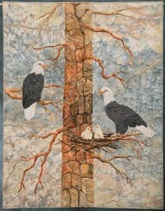 Eagle Ridge by Joanne Baeth.  1st place - Art, Naturescape. 2008 Road to California quilt show.