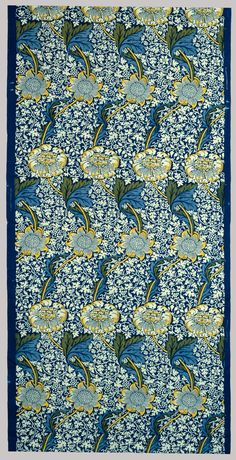 Kennet, Designed by William Morris. Morris & Company Printed Textiles. 1883; printed 1917-1923  Accession # 23.163.7