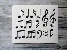 Music note stickers  Vinyl Stickers  Vinyl Decal by MyStickers4You