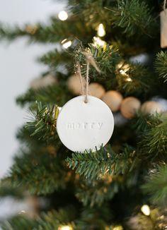 Minimalist Christmas Tree + DIY Clay Ornaments