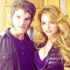 Tyler Posey and Gage Golightly in werewolf mode!