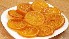 Карамелизированный апельсин / Candied orange slices recipe ♥ English sub. Herbal Kitchen, Candied Orange Slices, Candied Lemons, Baking Tips, Creative Food, Vegan Vegetarian, Herbalism, Cake Decorating, Dinner
