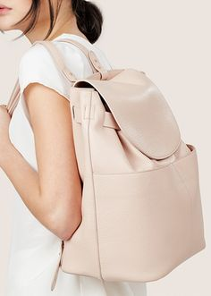 Top Handbag Trends Spring 2017 | The Backpack | Cuyana Leather Backpack, $350; at Cuyana