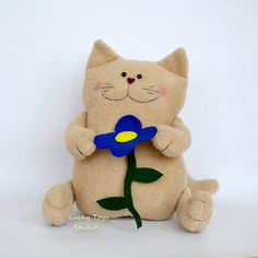 Birthday Gift Cat Stuffed Animals/ Cat Stuffed by LuckyToysStudio