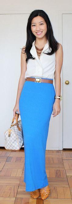 On my wish list..a sleek maxi skirt.
