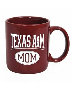 3cbd2e350cd Texas A M Aggie Oval Mom Maroon Coffe Mug Texas A m
