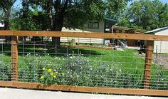 Maintenance free fencing for dogs | Feel free to drive by Sheryls and have a closer look at this creative ...
