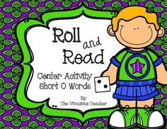 This Roll and Read Short O Words Center Activity contains three game boards. All you need to add is dice! RF.K.2, RF.K.2c, RF.K.2d, RF.K.2e, RF.1.2, RF.1.3b Grades K-2 ~ The Vivacious Teacher