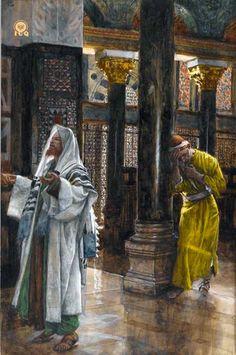 El fariseo y el publicano. James Tissot. 1886-94