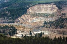 Aerial photo of the mudslide.