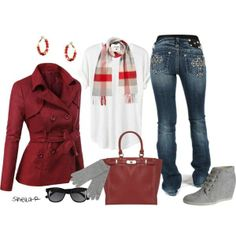 """Winter Outfit-Affordable Over 40 Fashion"" by sheila-r on Polyvore"