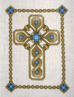 Celtic Jeweled Cross - Cross Stitch Pattern