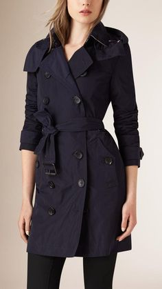 Pin for Later: Nab Your Favourite Trench Coat Before It Sells Out Burberry Brit Taffeta Trench Coat With Detachable Hood Burberry Brit Taffeta Trench Coat With Detachable Hood (£495)