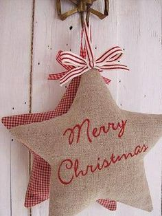 étoiles de Noël en tissu