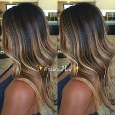 @paintedhair Blonde balayage hair