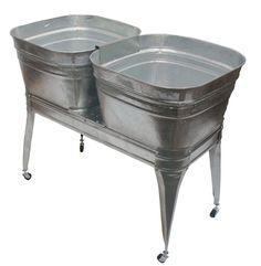 Amazon.com - Twin wash tub with stand and drain -