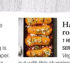 Olive Magazine: - Hasselback harissa roast squash Roasted Squash, Squashes, Orzo, Couscous, The Dish, Feta, Recipies, Magazine, Dishes