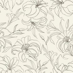 Papel de Parede Floral 1416