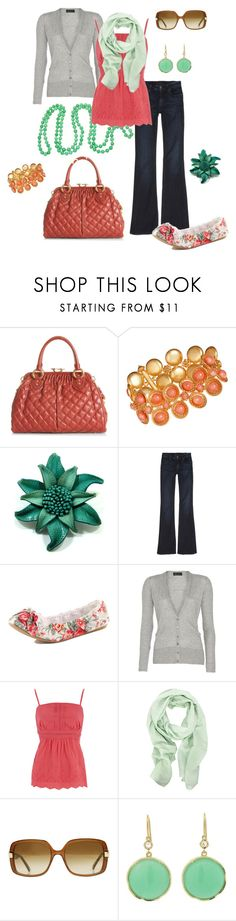 """""""mint + coral"""" by htotheb ❤ liked on Polyvore featuring мода, Marc Jacobs, Olivia Collings Antique Jewelry, Genetic Denim, Dorothy Perkins, CO-OP Barneys New York, Oasis, Modström, Irene Neuwirth и coral"""