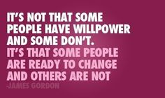 This is so true.  You really have to WANT to change for any change to actually happen