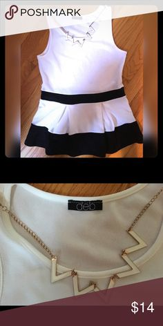 Selling this Classy black & white top on Poshmark! My username is: nuclearhearts. #shopmycloset #poshmark #fashion #shopping #style #forsale #Deb #Tops