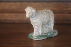 Vintage Chalkware Sheep Figurine by PageScrappers on Etsy, $18.00
