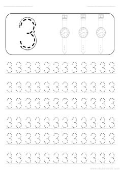 The number 3 worksheet and the number 3 writing works effectively. Preschool Number Worksheets, Letter Tracing Worksheets, Teaching Numbers, Numbers Preschool, Preschool Learning Activities, Preschool Printables, Preschool Activities, Preschool Painting, Learn Arabic Alphabet