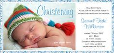 Christening Invitations - Beautiful ChildbrMore colours