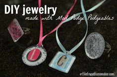 Mod Podge jewelry with the new Podgeables!