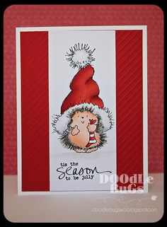 Doodlebugs: Penny Black Holiday Stamps and sparkle fluff