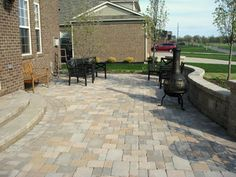 raised patios - Traditional - Patio - detroit - by Apex Landscape and Brick Services LLC