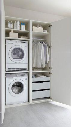 Pantry Laundry Room, Laundry Room Shelves, Basement Laundry, Laundry Room Organization, Laundry In Bathroom, Utility Room Storage, Closet Storage, Utility Room Designs, Utility Room Ideas