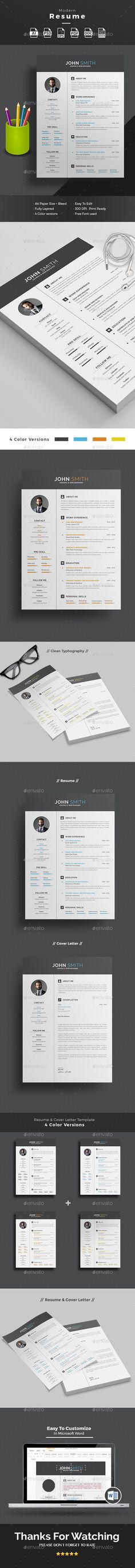 Resume Template PSD, AI Illustrator, MS Word. Download here: https://graphicriver.net/item/resume/17424082?ref=ksioks