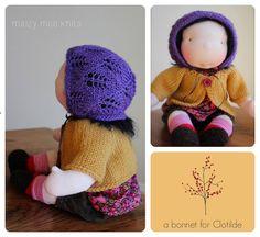 lace bonnet (pattern by Winterludes)