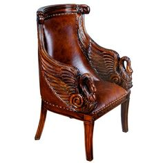Leather Living Room Furniture, Ball Chair, Antique Chairs, Unique Furniture, French Furniture, Vintage Furniture, Wingback Chair, Upholstered Chairs, Side Chairs
