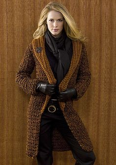 Free Crochet Pattern: St. Petersburg Coat by Kim Guzman.  ***I JUST PINNED SOME OF HER PATTERNS EARLIER TODAY!  SHE REALLY HAS SOME BEAUTIFUL THINGS!!!  ♥A