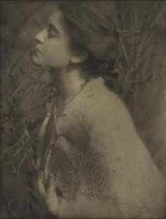 Eduard Steichen- Lilac Buds( Mrs. S), from Camera Work, no. 14. Photogravure on Japan tissue, 1906