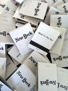 New York Matchbook.