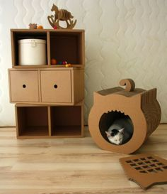 Exciting new ecofriendly cardboard furniture for children from