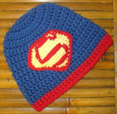 Superman Inspired Beanie - newborn and infant sizes