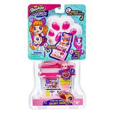 New Shopkins Lil Secrets Secret Shops season 4 toys with pets: Lovely Llama Style Salon, Cutie Cat Cafe, Penguin Slushie Stop, and the Funny Bun Bakery Pet 1, Pet Paws, Toys For Girls, Kids Toys, New Shopkins, Cat Cafe, Monster High Dolls, Toy Storage, Plush Dolls