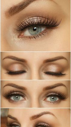 classic and yet elegant brown waking up - perfect for .- klassisches und doch elegantes braunes aufwachen – perfekt für blaue augen classic and yet elegant brown waking up – perfect for blue eyes – up - Wedding Makeup For Blue Eyes, Best Wedding Makeup, Wedding Makeup Looks, Natural Wedding Makeup, Makeup For Green Eyes, Blue Eye Makeup, Bridal Makeup, Makeup Eyeshadow, Eyeliner